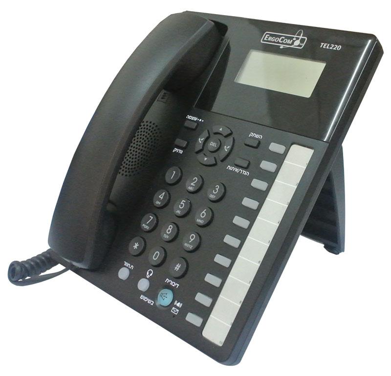 טלפון אנלוגי TEL 220 משווק על ידי לויקום תקשורת